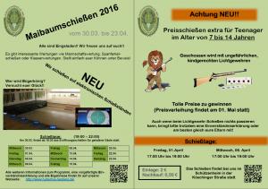 Einladung Maibaum 2016